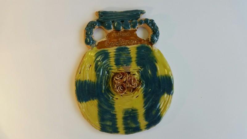 """Keramikinė vaza """"Ant sienos""""1"""