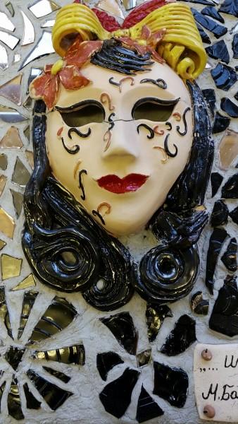 """Keraminė mozaika """"Kaukė""""21"""