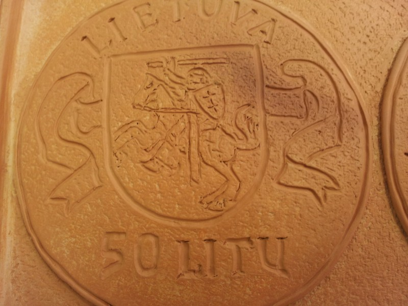 "Keraminis medalis ""Lietuvos pinigai-II""2"