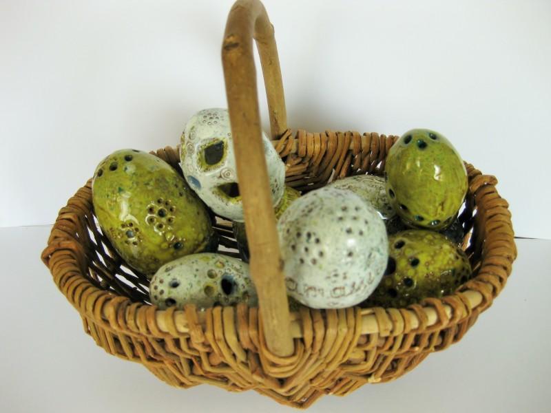 """Keraminiai kiaušiniai """"Žalioms Velykoms""""Marija Baranovskaja12"""