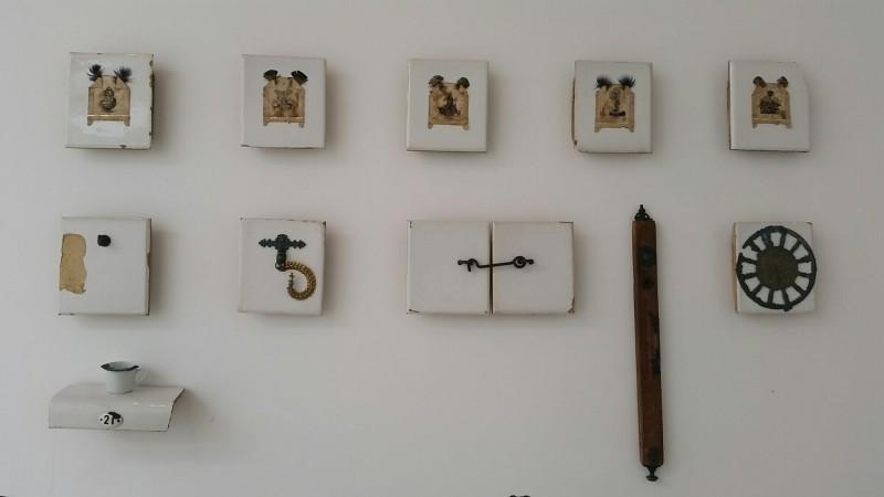 """Keraminė kompozicija """"Inkilų kėlimo šventė"""" (keramika, bronza)2"""