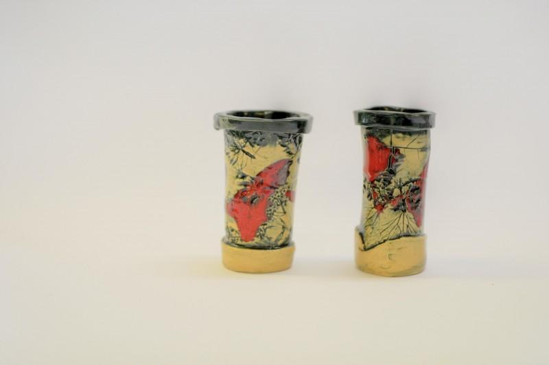 """Keraminiai puodeliai """"Žydinti pieva""""Karolina Vaitkutė11"""