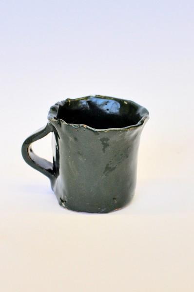 """Keraminis puodelis """"Smaragdas""""Sandra Bradauskienė8"""