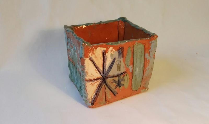 """Keramikos darbas  vazonas """"Paskutinė snaigė""""1350"""