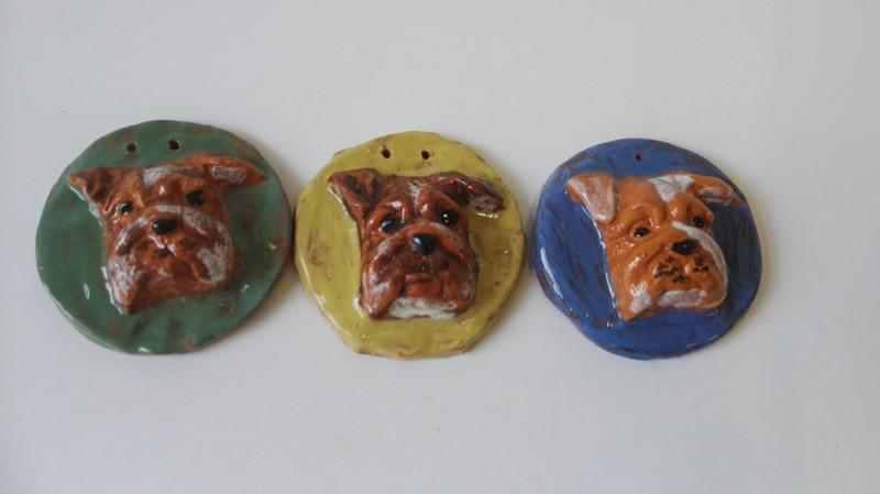 """Keraminiai medaliai """"Šuniukai""""5"""