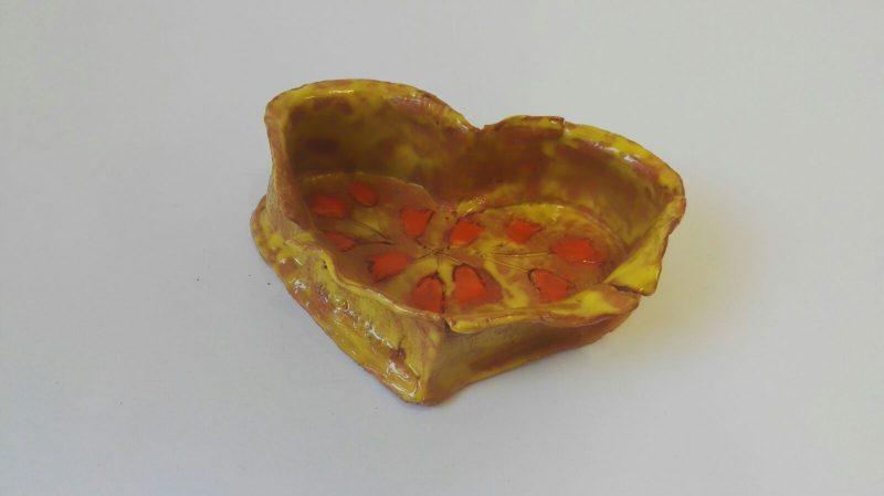 """Keramikinė dėžutė """"Širdis pražydo"""""""