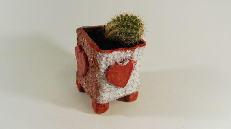 """Keraminis vazonas """"Meilė kaktusams"""""""