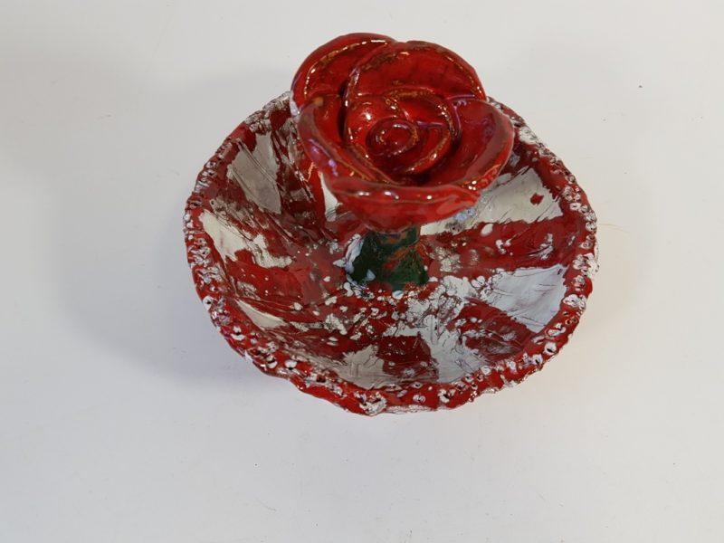 """Keraminė skulptūrėlė """"Skinsiu raudoną rožę""""7"""