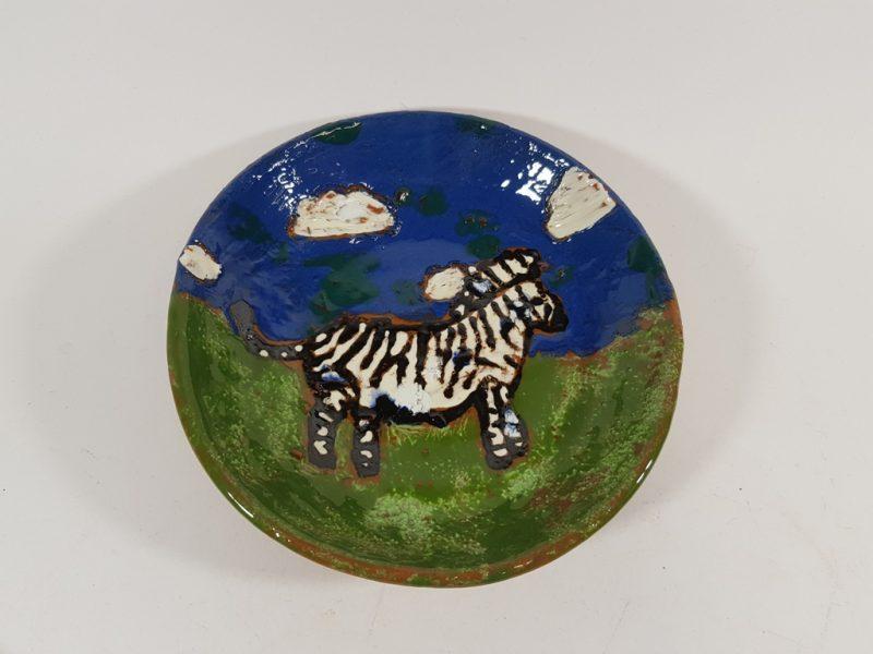 """Keraminė lėkštė """"Zebras pievoje"""""""