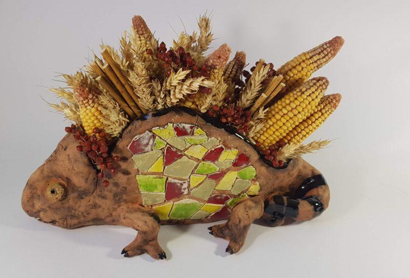 """Keraminė skulptūrėlė """"Iguana"""""""