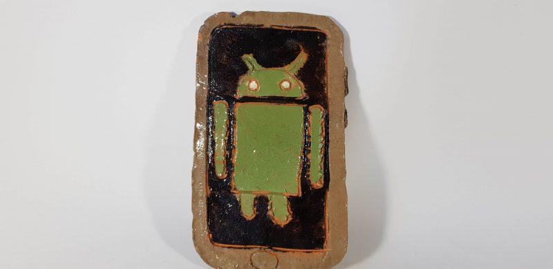 """Keraminė skulptūrėlė """"Android""""25"""