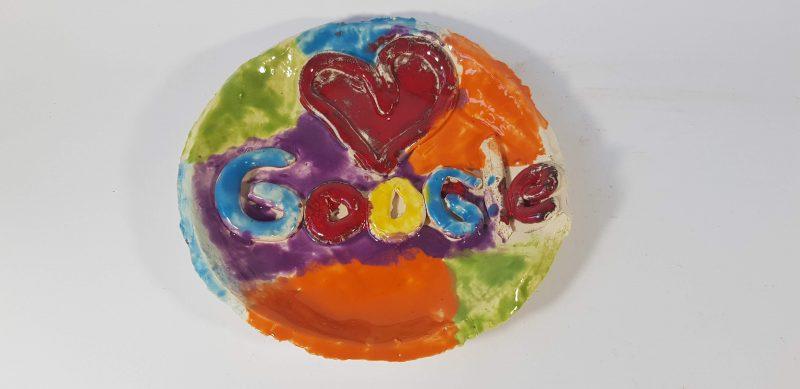 """Keraminė lėkštė """"Google"""""""